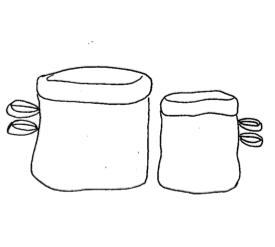 Corbeille en tissu