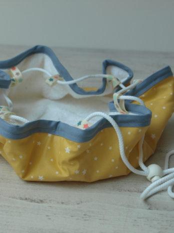 Tapis pieds secs, jaune et gris