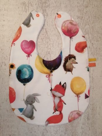 Bavoir grande taille, collection « animaux et ballons »
