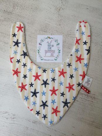 Bavoir bandana collection «étoiles de mer»