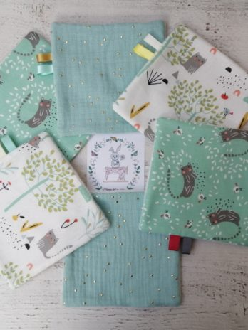 Lot de 6 lingettes, collection « doux printemps »