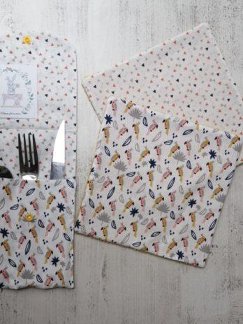 Range couverts et ses deux sopalins lavables assortis
