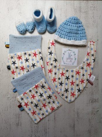 Coffret cadeau, tissu marin à étoiles