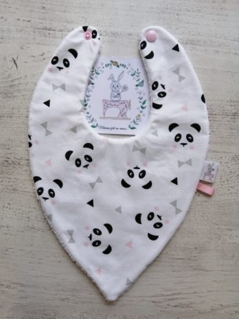 Bavoir pointe, panda