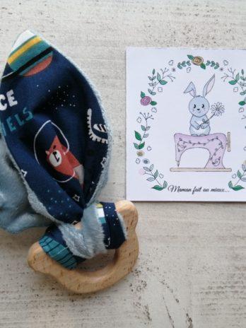 Anneau de dentition ours, collection cosmonaute